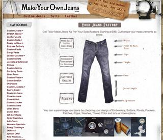 jeans personnalisés