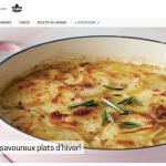Trouver des recettes en ligne